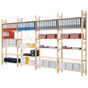 Compleet houten rek 4 meter