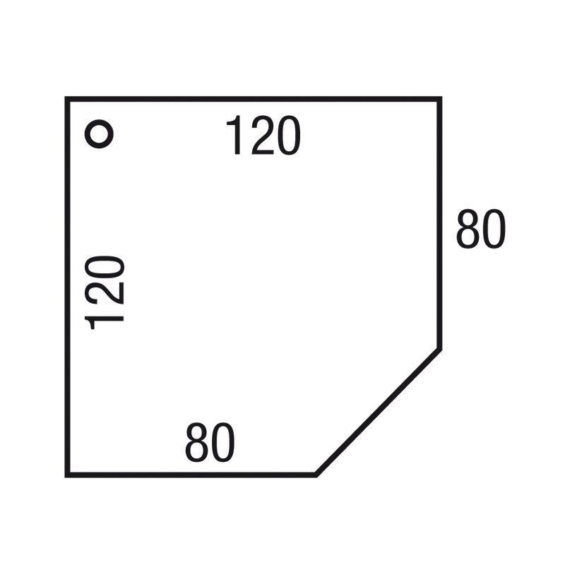 Los Aanbouwblad Cadmodel 120X120/80X80Cm