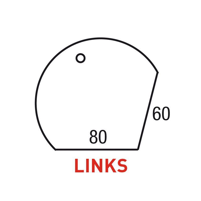 Los Aanbouwblad Druppelmodel Links 120Cm/80-60Cm