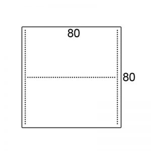 Los blad 80x80cm