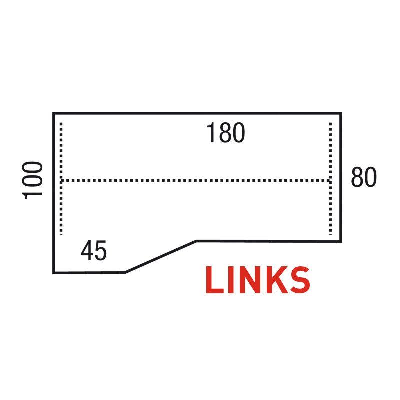 Los Blad Alphamodel 180X100/80X45Cm Links