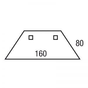 Los blad trapezium 160x80/80x80cm