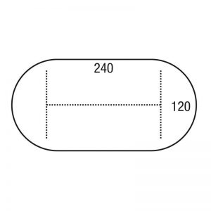 Los blad vergadermodel OVAAL 240x120cm