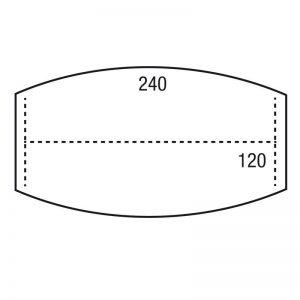 Los blad vergadermodel TON 240x120cm