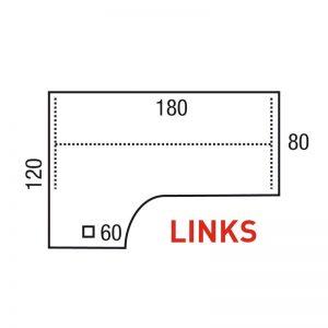 Los blad wingmodel 180x120/80x60cm Links