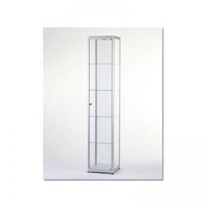 Vitrinekast 200x40x40cm aluminium