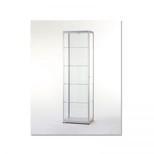 Vitrinekast200x60x40cm aluminium