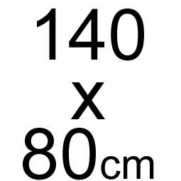 140 x 80 cm
