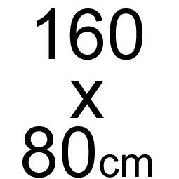 160 x 80 cm