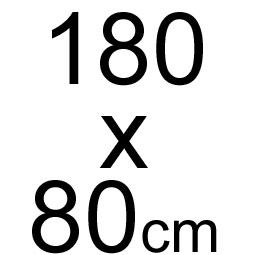 180 x 80 cm